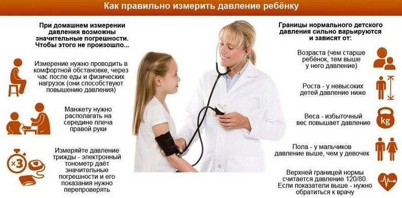 Как мерить давление ребенку